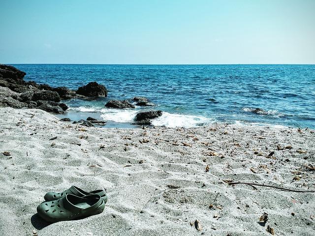 kroksy na pláži