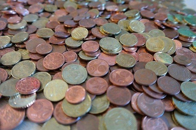 drobné mince, centy