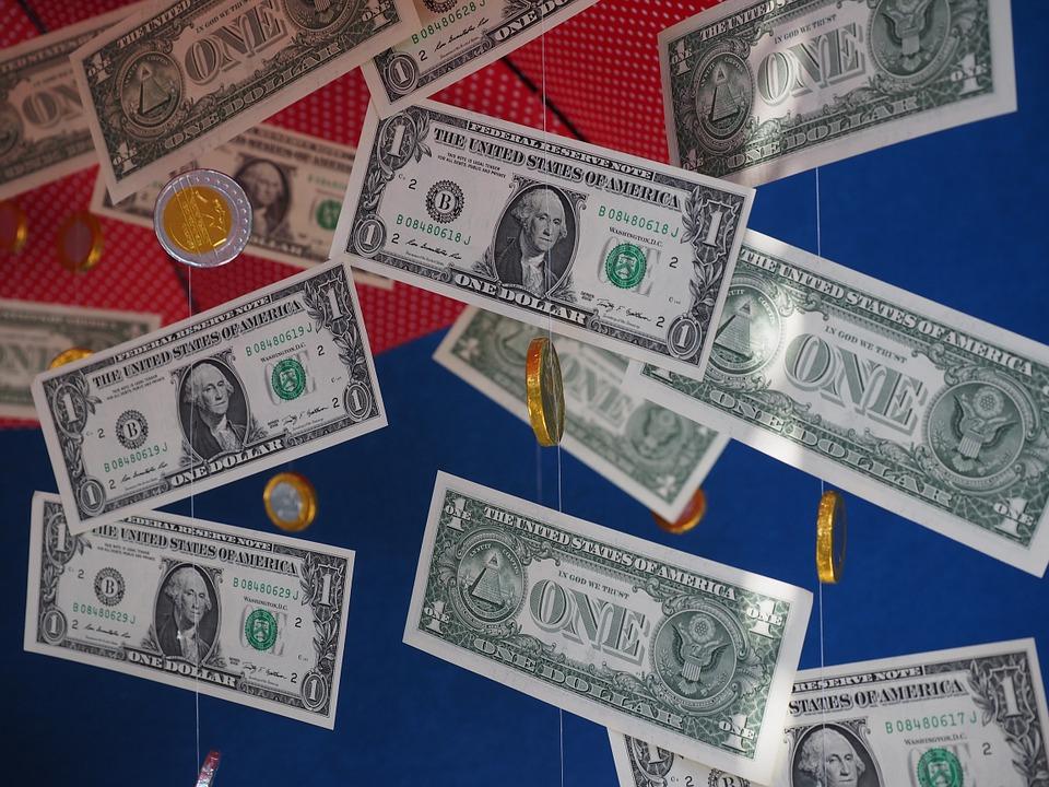 visící dolary